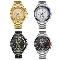 RISTOS® Uhrenkollektion, Edelstahl, mit Glas, plattiert, für den Menschen & glänzend, keine, 46x11mm, Länge:ca. 10 ZollInch, verkauft von PC