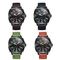 RISTOS® Uhrenkollektion, PU Leder, mit Glas & Edelstahl, schwärzen, einstellbar & für den Menschen, keine, 46x12mm, Länge:ca. 10 ZollInch, verkauft von PC