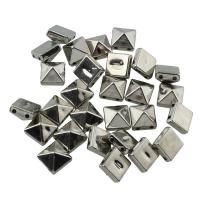 Verkupfertes Kunststoff-Perlen, Verkupferter Kunststoff, Platinfarbe platiniert, 2 strängig, 8x5mm, Bohrung:ca. 0.5mm, 100PCs/Tasche, verkauft von Tasche