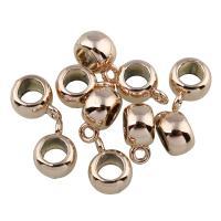 Zinklegierung Stiftöse Perlen, Rósegold-Farbe plattiert, frei von Blei & Kadmium, 5x11x8mm, Bohrung:ca. 1.5mm, 20PCs/Tasche, verkauft von Tasche