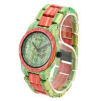 BEWELL® Uhrenkollektion, Bambus, mit Glas & Edelstahl, schwärzen, für den Menschen, keine, 50mm, Länge:ca. 8.5 ZollInch, verkauft von PC