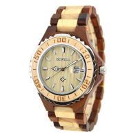 BEWELL® Uhrenkollektion, Holz, mit Glas & Edelstahl, für den Menschen, keine, 46mm, Länge:ca. 8.5 ZollInch, verkauft von PC