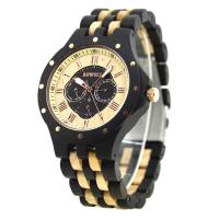 BEWELL® Uhrenkollektion, Sandelholz, mit Glas & Edelstahl, verschiedenen Materialien für die Wahl & für den Menschen, 57mm, Länge:ca. 8.5 ZollInch, verkauft von PC