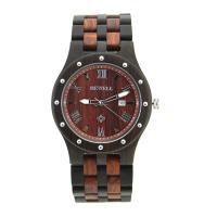 BEWELL® Uhrenkollektion, rotes Sandelholz, mit Glas & Edelstahl, für den Menschen, keine, 33mm, Länge:ca. 8.5 ZollInch, verkauft von PC
