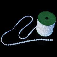 ABS-Kunststoff-Perlen Perle Seil, weiß, 10mm, ca. 25m/Spule, verkauft von Spule