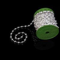 Acryl Perle Seil, Platinfarbe platiniert, 10mm, ca. 10m/Spule, verkauft von Spule
