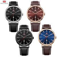 MINIFOCUS® Uhrenkollektion, Kuhhaut, mit Zinklegierung Zifferblatt & Glas & Edelstahl, plattiert, einstellbar & für den Menschen & wasserdicht, keine, 44x39.5x10mm, 22mm, Länge:ca. 9.6 ZollInch, verkauft von PC