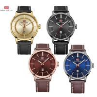 MINIFOCUS® Uhrenkollektion, Kuhhaut, mit Zinklegierung Zifferblatt & Glas & Edelstahl, plattiert, einstellbar & für den Menschen & wasserdicht, keine, 46x10mm, 22mm, Länge:ca. 10 ZollInch, verkauft von PC