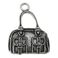 Zinklegierung Handtasche Anhänger, antik silberfarben plattiert, frei von Nickel, Blei & Kadmium, 21x27x5mm, Bohrung:ca. 3mm, ca. 200PCs/Tasche, verkauft von Tasche