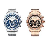 BIDEN® Uhrenkollektion, Edelstahl, mit Glas & Zinklegierung, plattiert, für den Menschen, keine, 42x12mm, Länge:ca. 9 ZollInch, verkauft von PC