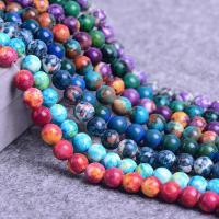 Regen Blumen Stein Perlen, rund, verschiedene Größen vorhanden, verkauft per ca. 15.3 ZollInch Strang