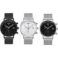 DOM® Uhrenkollektion, Edelstahl, mit Zinklegierung Zifferblatt & Glas, plattiert, für den Menschen & wasserdicht, keine, 40x7mm, 20mm, Länge:ca. 8 ZollInch, verkauft von PC