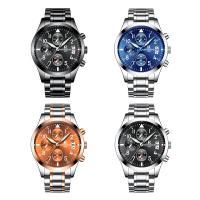 ONTHEEDGE®-Männer-Schmuck-Uhren, Edelstahl, mit Glas & Zinklegierung, plattiert, für den Menschen & glänzend, keine, 41x10mm, Länge:ca. 9.5 ZollInch, verkauft von PC