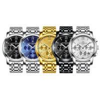 ONTHEEDGE®-Männer-Schmuck-Uhren, Edelstahl, mit Glas, plattiert, verschiedene Muster für Wahl & für den Menschen & glänzend, 41x10mm, Länge:ca. 9.5 ZollInch, verkauft von PC