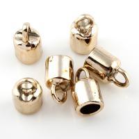 Zinklegierung Kleben Schmucköse, vergoldet, frei von Blei & Kadmium, 9x15mm, Bohrung:ca. 3mm, Innendurchmesser:ca. 5mm, 20PCs/Tasche, verkauft von Tasche