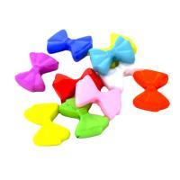 Volltonfarbe Acryl Perlen, Schleife, verschiedene Verpackungs Art für Wahl, gemischte Farben, 18x14mm, Bohrung:ca. 1mm, verkauft von Tasche