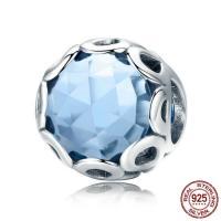 Thailand European Perlen, mit Kristall, rund, ohne troll & facettierte, 12x10mm, Bohrung:ca. 4.5-5mm, verkauft von PC