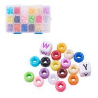 Acryl Perle, mit Kunststoff Kasten, gemischt, 6x9mm, 10x10mm, Bohrung:ca. 3-4mm, 512PCs/Box, verkauft von Box