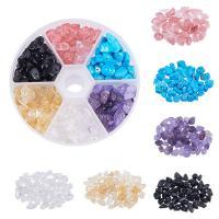 Mischedelstein Perlen, Edelstein, mit Kunststoff Kasten, gemischt, 3-8mm, 125x105x30mm, Bohrung:ca. 1mm, verkauft von Box