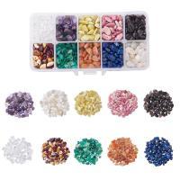 Mischedelstein Perlen, Edelstein, mit Kunststoff Kasten, gemischt, 5-8mm, 135x70x30mm, Bohrung:ca. 1mm, verkauft von Box