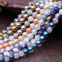 Natürliche klare Quarz Perlen, Klarer Quarz, rund, keine, 8mm, Bohrung:ca. 1mm, verkauft per ca. 15 ZollInch Strang