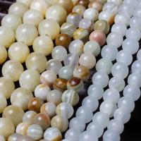 Jade Perlen, rund, verschiedenen Materialien für die Wahl, 6mm, Bohrung:ca. 1mm, verkauft per ca. 15 ZollInch Strang