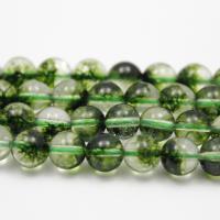 Natürliche klare Quarz Perlen, Klarer Quarz, rund, verschiedene Größen vorhanden, grün, verkauft per ca. 15.7 ZollInch Strang