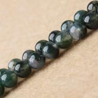 Achat Perlen, rund, natürlich, verschiedene Größen vorhanden, grün, verkauft per ca. 15.7 ZollInch Strang