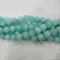 Amazonit Perlen, rund, natürlich, verschiedene Größen vorhanden & facettierte, grün, verkauft per ca. 15.7 ZollInch Strang