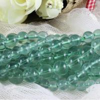 grüner Fluorit Perle, rund, natürlich, verschiedene Größen vorhanden, grün, verkauft per ca. 15.7 ZollInch Strang