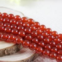 Natürlich rote Achat Perlen, Roter Achat, rund, verschiedene Größen vorhanden, rot, verkauft per ca. 15.7 ZollInch Strang