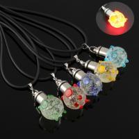 Lampwork Halskette, mit Gummiband, Schwein, handgemacht, unisex & glänzend, keine, 18x31x21mm, verkauft per ca. 17 ZollInch Strang