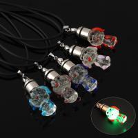 Lampwork Halskette, mit Gummiband, handgemacht, unisex & glänzend, keine, 17x36x20mm, verkauft per ca. 17 ZollInch Strang
