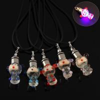 Lampwork Halskette, mit Gummiband, handgemacht, unisex & glänzend, keine, 22x35x17mm, verkauft per ca. 17 ZollInch Strang
