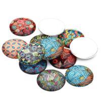 Glas Cabochons, flache Runde, Zeit Edelstein Schmuck & gemischtes Muster & verschiedene Größen vorhanden & flache Rückseite, Länge:ca. 7 ZollInch, 20PCs/Tasche, verkauft von Tasche