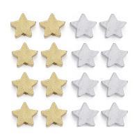 Holzperlen, Holz, Stern, keine, 15mm, Bohrung:ca. 2mm, 100PCs/Tasche, verkauft von Tasche