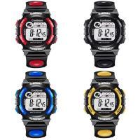 ABS Kunststoff Armbanduhr, mit Edelstahl & Acryl, sieben Farben blinkend & für Kinder & verschiedene Größen vorhanden & wasserdicht, keine, verkauft von PC