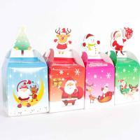 Papier Weihnachts-Geschenkbox, 95x85x85mm, 200mm, ca. 10PCs/Menge, verkauft von Menge
