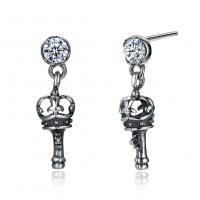 comeon® Schmuck Ohrring, Thailand, Schlüssel, für Frau & mit kubischem Zirkonia, 3x18mm, verkauft von Paar
