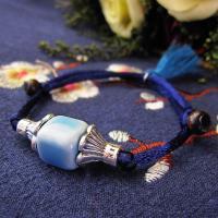 Porzellan Armband, mit Nylonschnur & Zinklegierung, antik silberfarben plattiert, Armband  Bettelarmband & unisex, keine, verkauft per ca. 7 ZollInch Strang