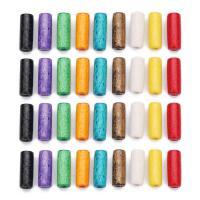 Holzperlen, Holz, Zylinder, gemischte Farben, 7x20mm, Bohrung:ca. 3mm, 100PCs/Tasche, verkauft von Tasche
