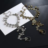 Zink-Legierung Armband-Ring, Zinklegierung, mit Verlängerungskettchen von 1.37inch, plattiert, einstellbar & für Frau, keine, frei von Nickel, Blei & Kadmium, verkauft per ca. 5.9 ZollInch Strang