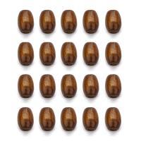 Holzperlen, Holz, oval, originale Farbe, 6x8mm, Bohrung:ca. 2mm, 500PCs/Tasche, verkauft von Tasche