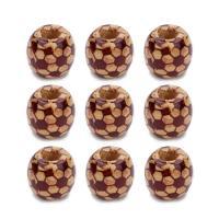 Holz Großes Loch Perlen, Trommel, 22.5x27mm, Bohrung:ca. 7mm, 10PCs/Tasche, verkauft von Tasche