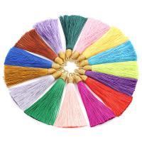 Dekorative Quaste, Nylon, QuasteTroddel, keine, 85mm, Bohrung:ca. 2x4mm, 10PCs/Tasche, verkauft von Tasche