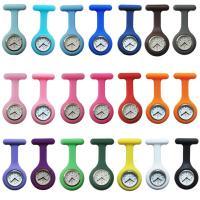 Hängende Uhr, Silikon, mit Zinklegierung Zifferblatt & Eisen, Platinfarbe platiniert, verschiedene Verpackungs Art für Wahl, 40x86.5x8.5mm, verkauft von Menge