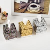 Papier Hochzeit-Candy-Box, mit Satinband, keine, 50x50x50mm, 50PCs/Menge, verkauft von Menge