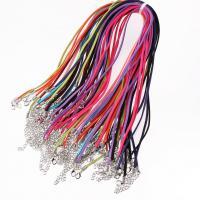 Baumwollsamt Halskette Schnur, keine, 3mm, 100SträngeStrang/Menge, verkauft von Menge