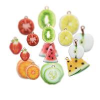 Zinklegierung Obst Anhänger, ObstFrucht, plattiert, verschiedene Stile für Wahl & Emaille, frei von Nickel, Blei & Kadmium, Bohrung:ca. 2mm, 10PCs/Menge, verkauft von Menge