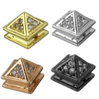 Befestigte Zirkonia Perlen, Messing, plattiert, Micro pave Zirkonia, keine, frei von Nickel, Blei & Kadmium, 8.50x7.50x8.50mm, Bohrung:ca. 1.4mm, 30PCs/Menge, verkauft von Menge